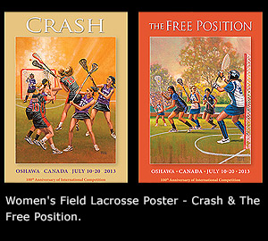Women's Field Lacrosse Poster - Crash & The Free Position.