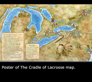 The Cradle of Lacrosse map.