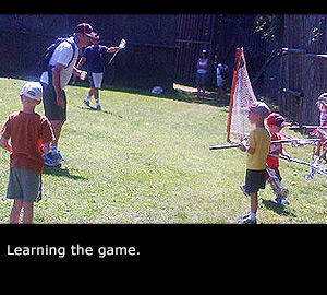 Learning the game.