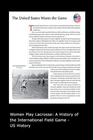 Women Play Lacrosse: A History of the International Field Game page 39