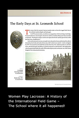 Women Play Lacrosse: A History of the International Field Game page 23
